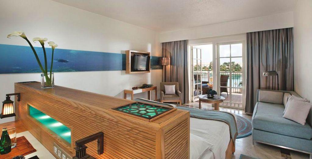 Pour encore plus d'évasion, optez pour la chambre Deluxe Lagoon View ou Sea View