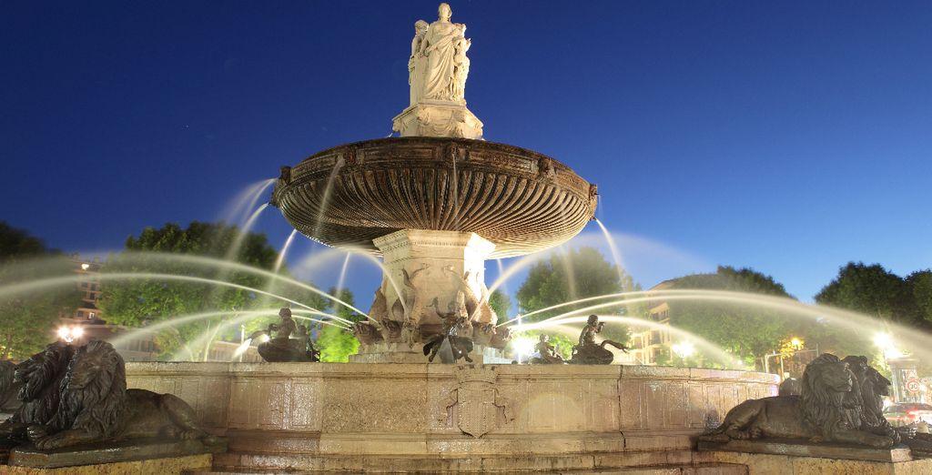 En plein cœur de la cité aux 1001 fontaines !