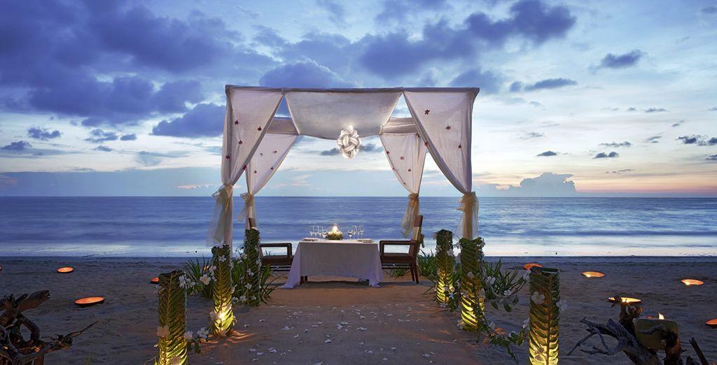 Ou offrez-vous un moment romantique sur la plage...
