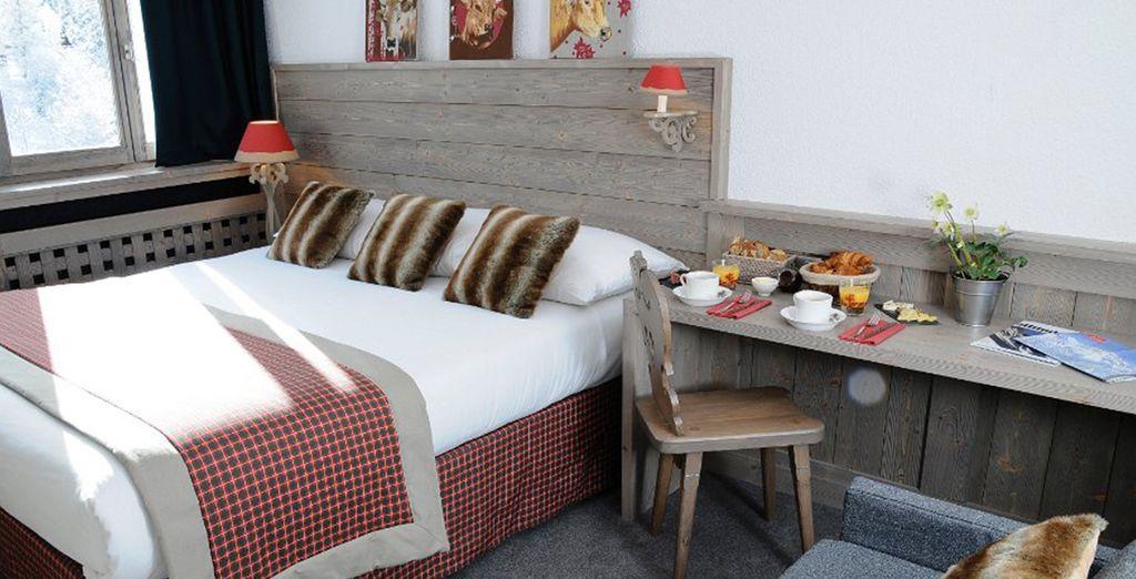 Et de la chaleur de votre chambre à l'hôtel & Spa Arcadien