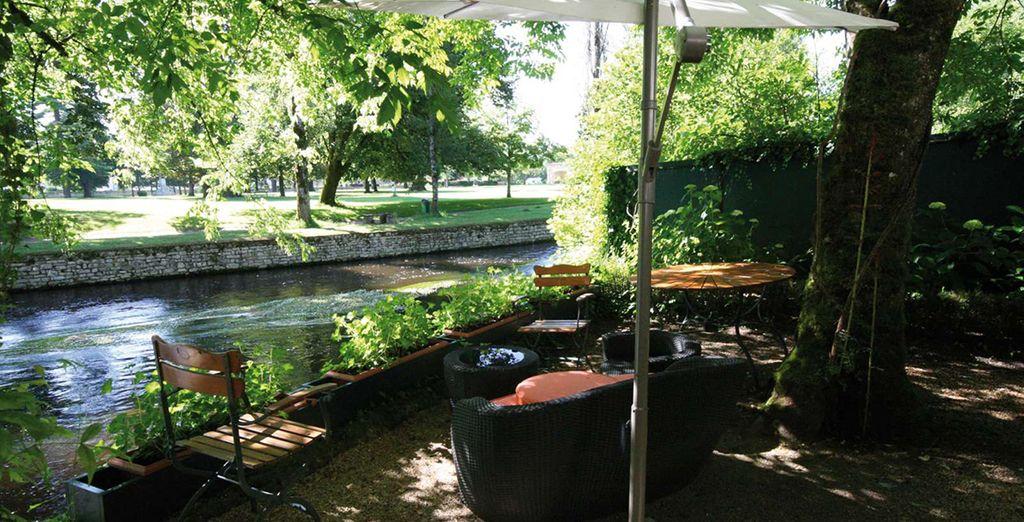 Et d'un accès idyllique à la rivière