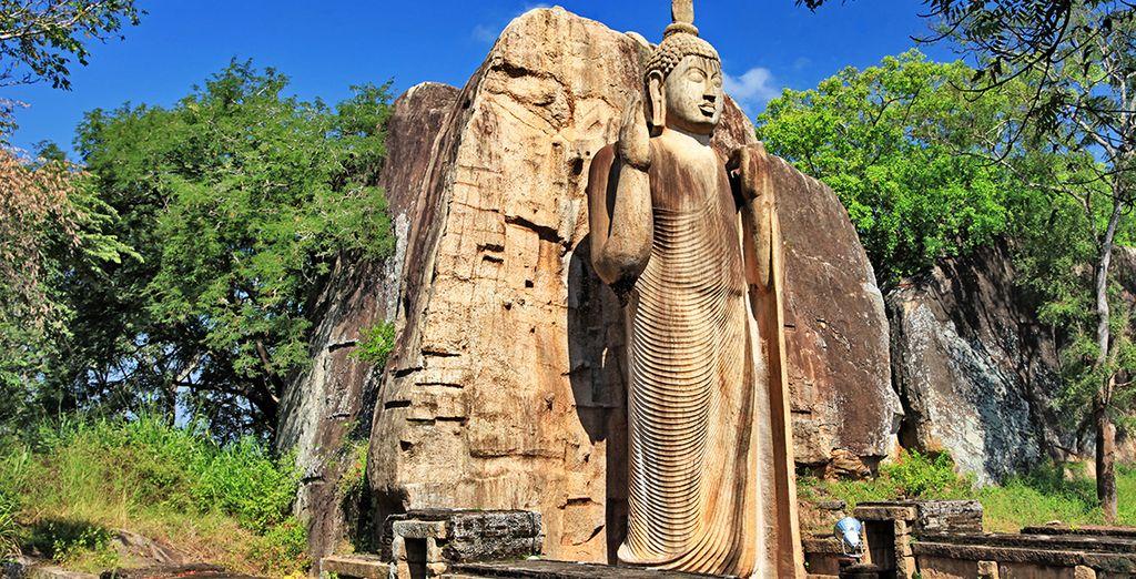 Profitez de vos options pour vous perdre dans les temples d'Anuradhapura...