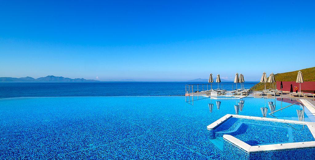 A moins que vous ne préfériez la sublime piscine à débordement