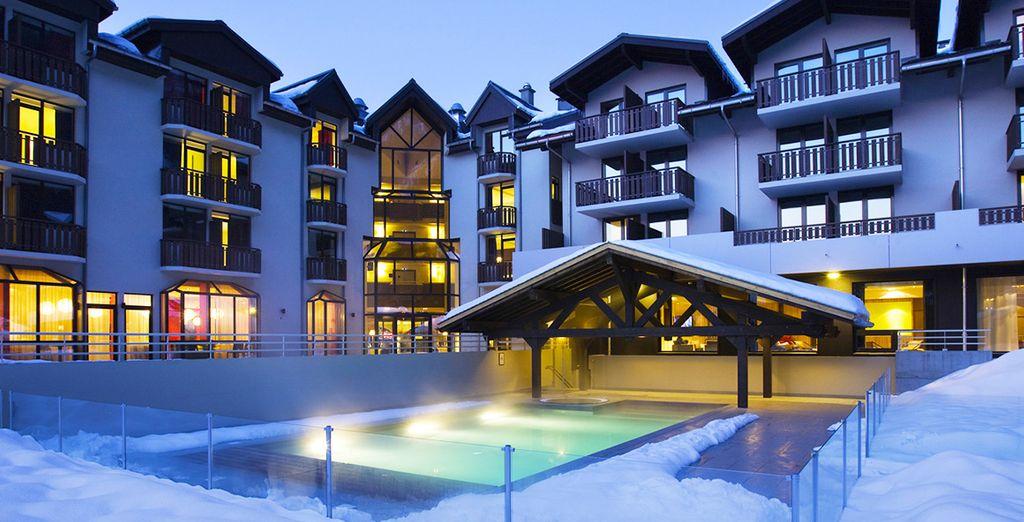 D'où vous pourrez vous émerveiller devant le majestueux Mont-Blanc