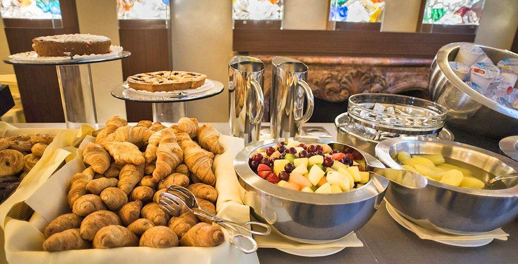 Vous commencerez la journée en douceur par un petit-déjeuner