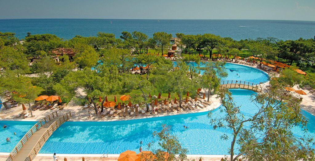 Offrez-vous un dégradé de bleu - Hôtel Akka Antedon 5* Antalya