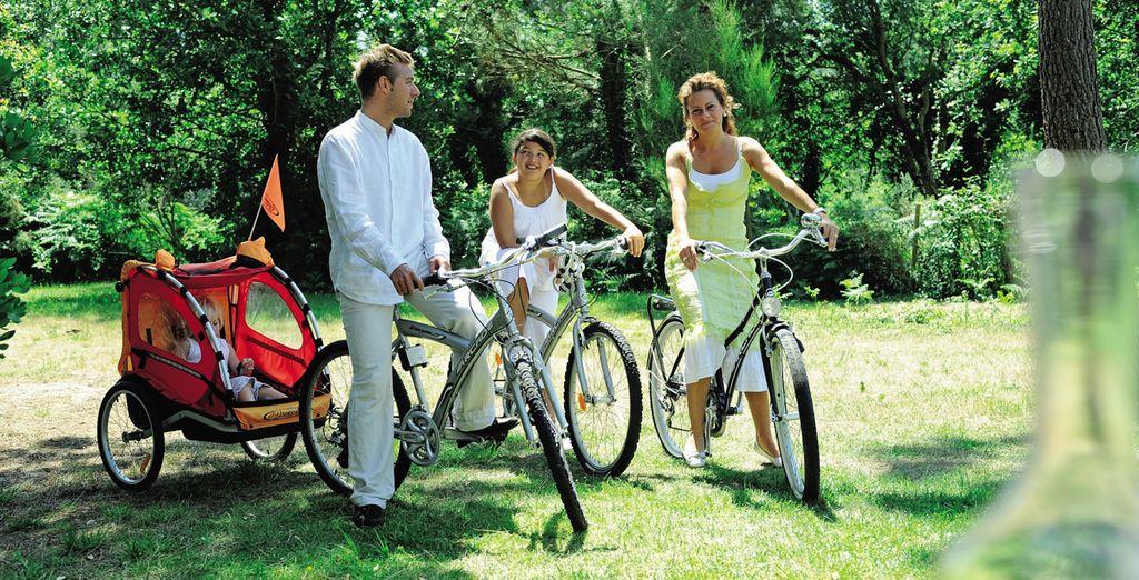 Activités en famille, virées à vélo