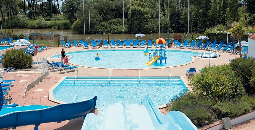 Après un repos bien mérité, plongez dans la piscine...