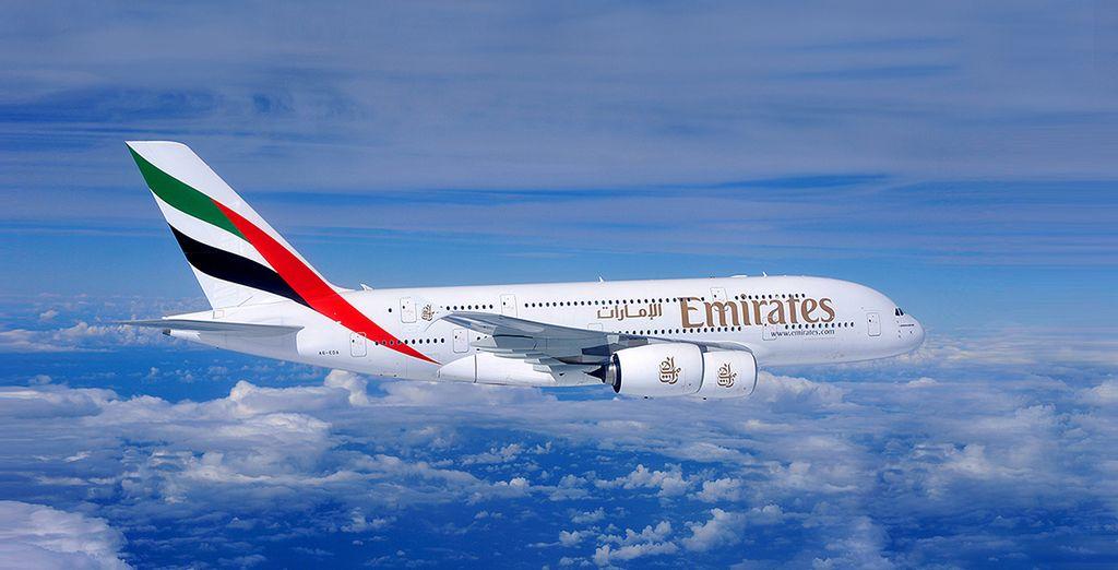 En option et avec supplément, craquez pour la classe affaires d'Emirates