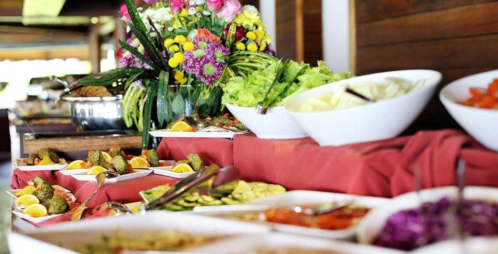 Au restaurant Veli, où un buffet coloré et varié vous attend
