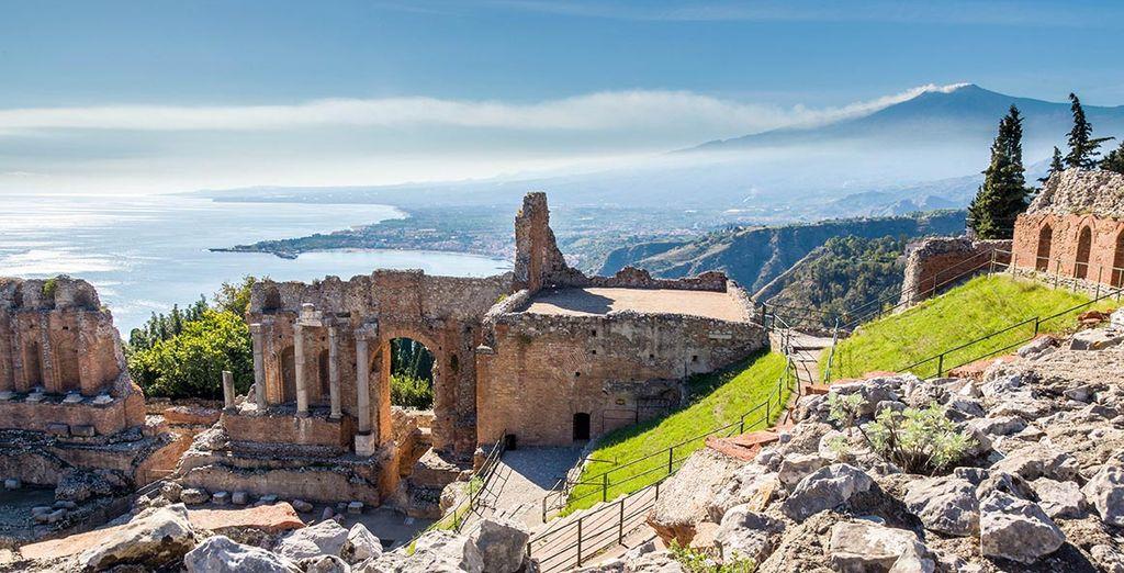 Des panoramas saisissants comme à Taormina...