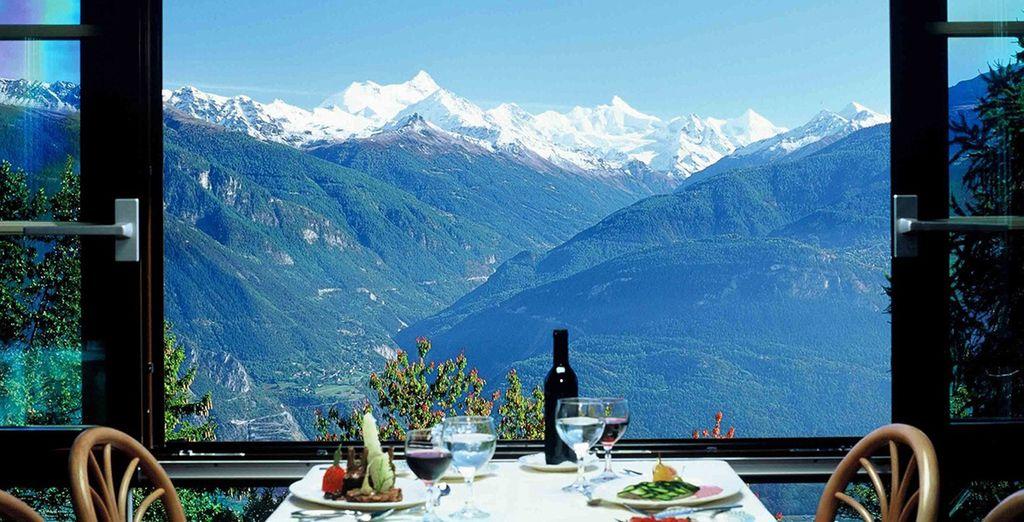 Avec une vue toujours imprenable sur le Mont-Blanc