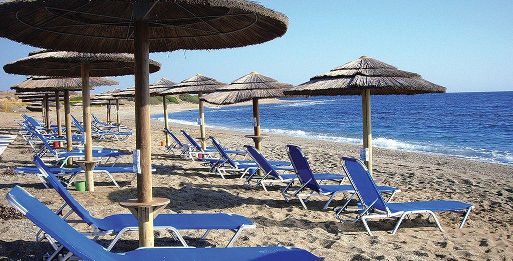 Avant de découvrir la sublime plage en bordure de l'hôtel