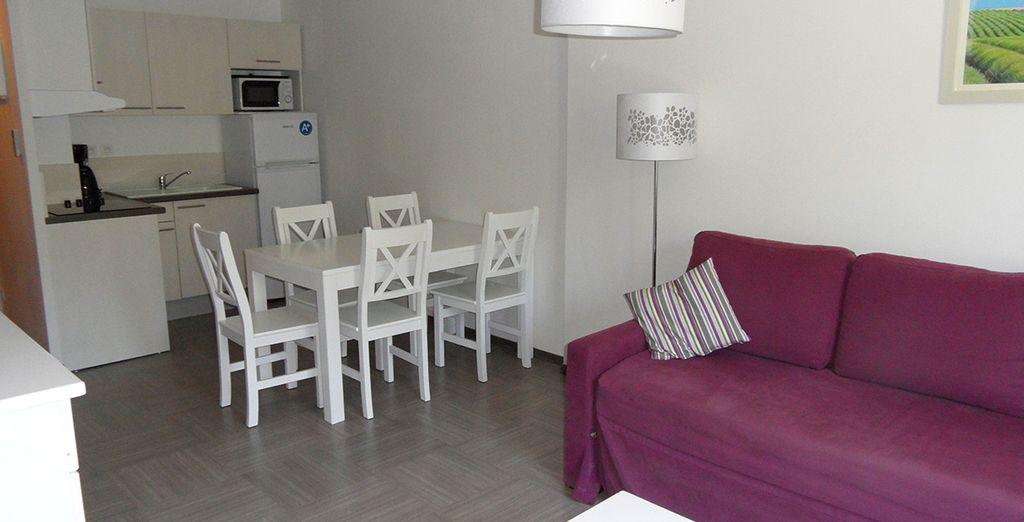 Prenez place dans un appartement spacieux...