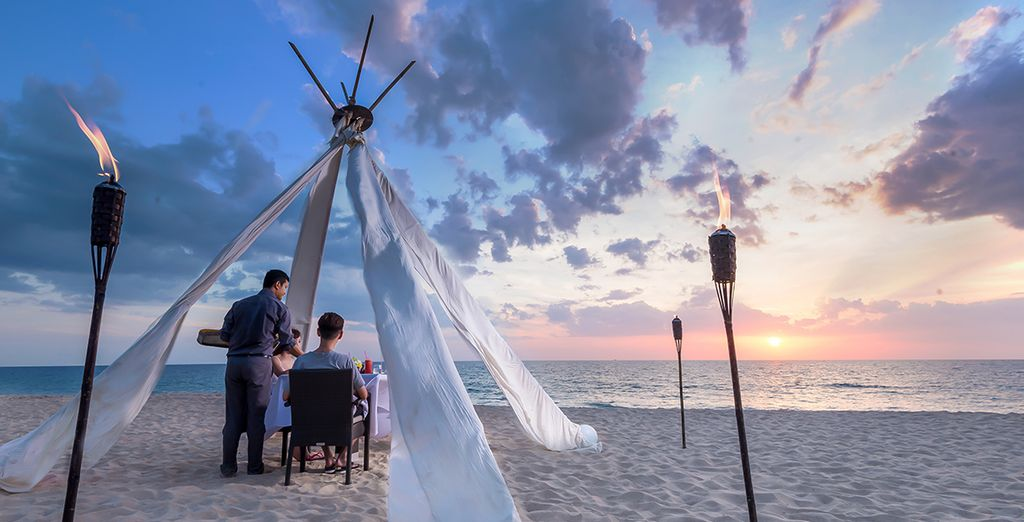Ou bien penchez pour un tête à tête romantique sur la plage