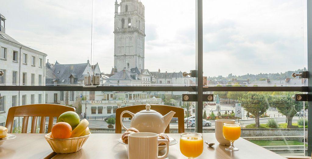 Ou sur le balcon d'où la vue y est très agréable