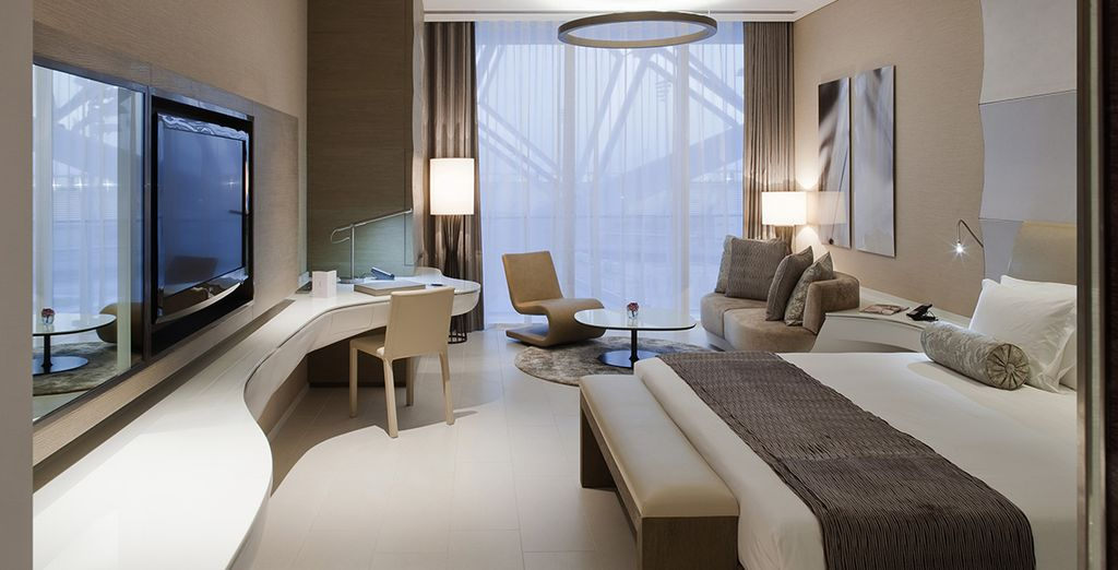 Installez-vous au coeur d'une chambre moderne