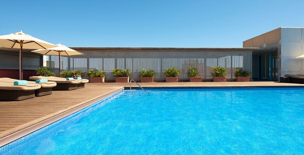 Peaufinez votre bronzage depuis le solarium sur le toit