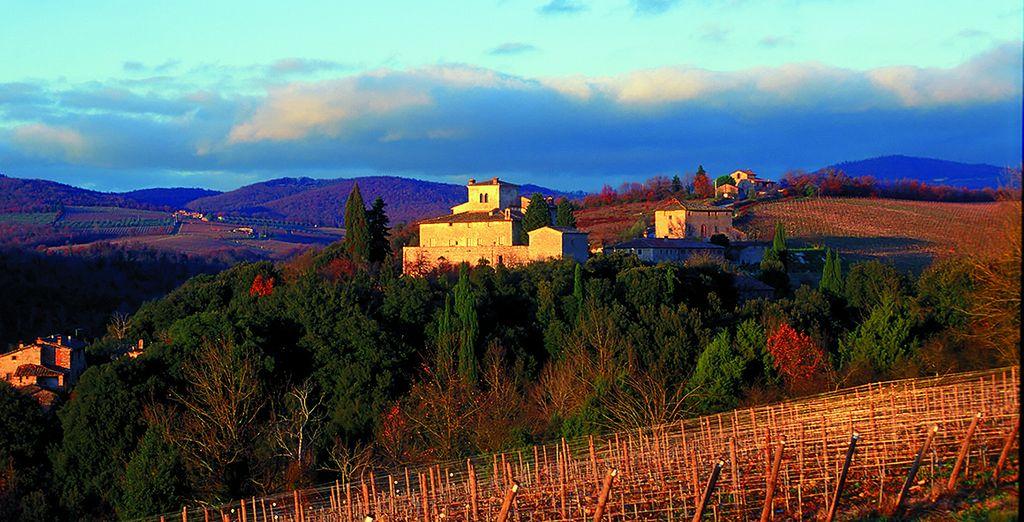 Et immortalisez les paysages de Toscane, baignés de soleil.