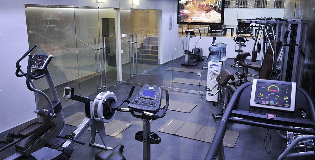 Profitez également de la salle de fitness...