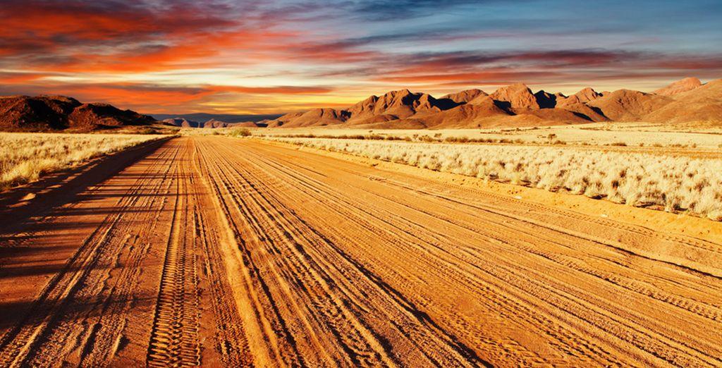 Paysage de la Namibie et son désert du Namib