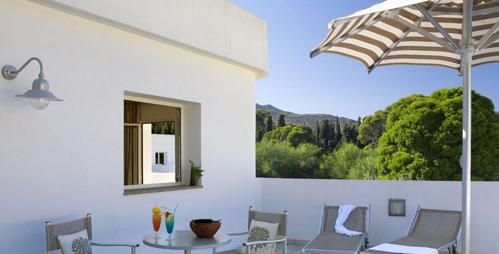 Ainsi qu'une terrasse ou un patio !