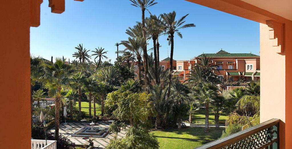 En plein coeur de la Palmeraie de Marrakech...