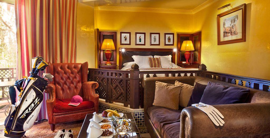 En chambre vue Golf ou Piscine, raffinée & spacieuse