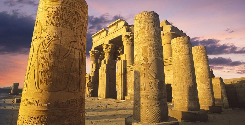 Ou bien encore le temple ptolémaïque de Kom Ombo