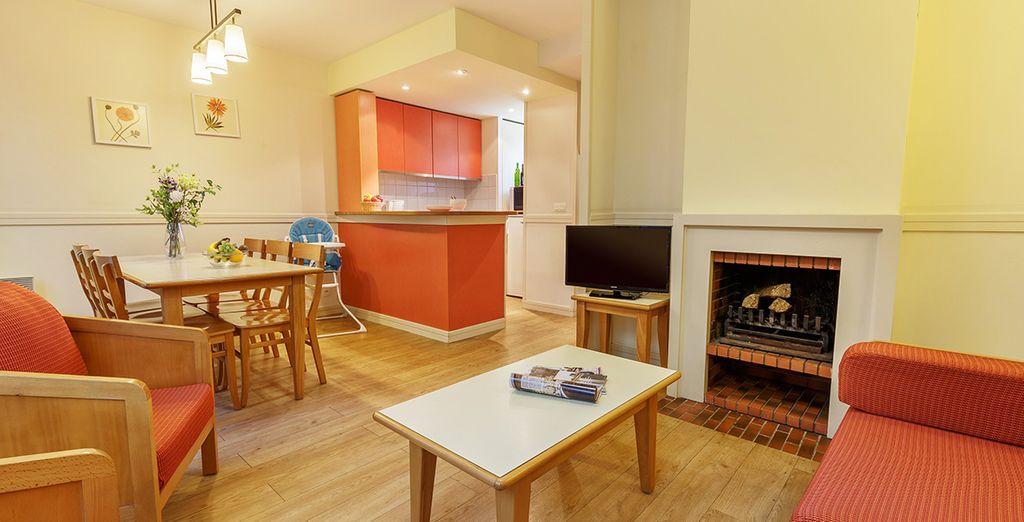 Dans un lieu accueillant et chaleureux : en cottage Comfort