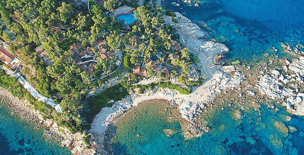 Situé sur une superbe péninsule privée