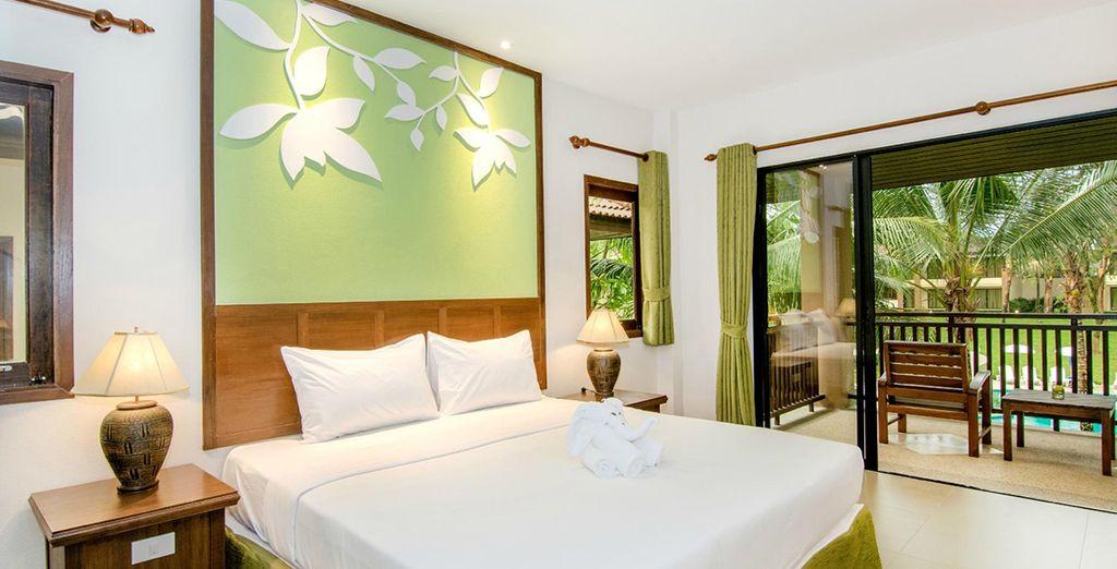 Vous logerez en chambre The Leaf ou serez surclassé en Cottage selon période