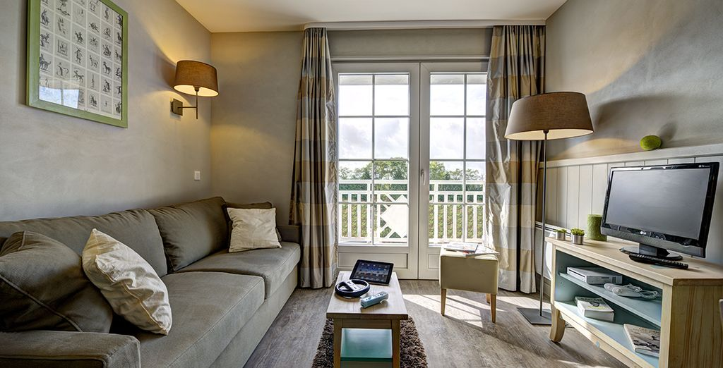 Hôtel haut de gamme 4 étoiles avec espace détente, terrasse privée et chambre double tout confort, en Normandie