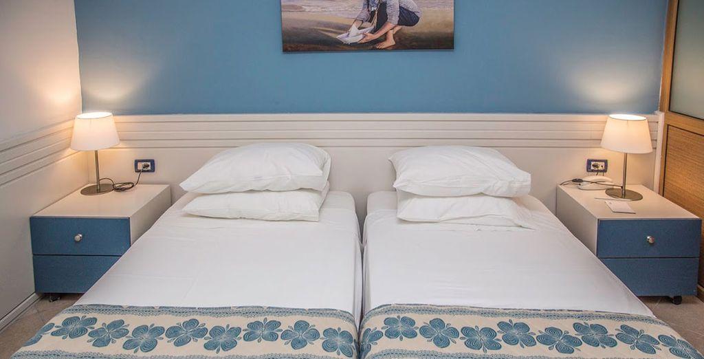 Installez-vous dans une chambre confortable