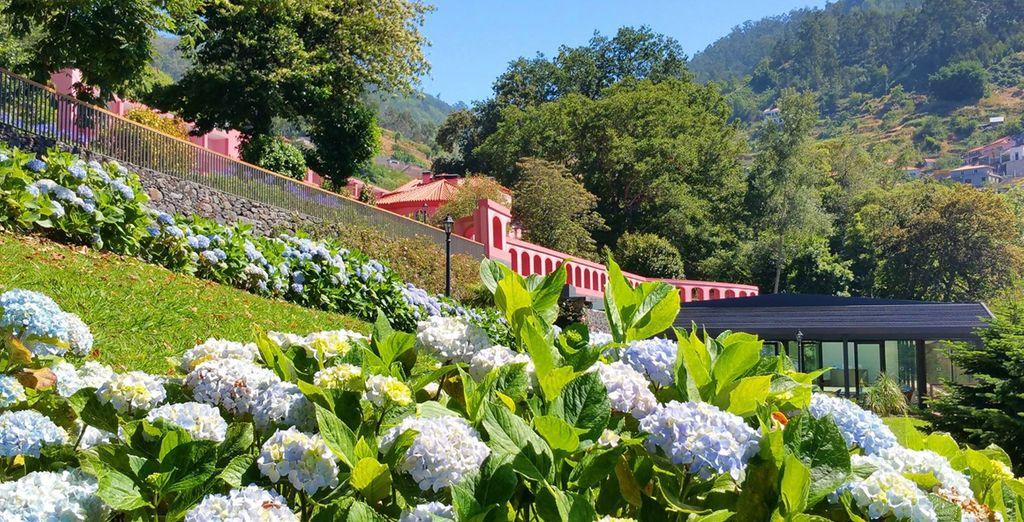 Un lieu de villégiature idéal entouré de jardins...