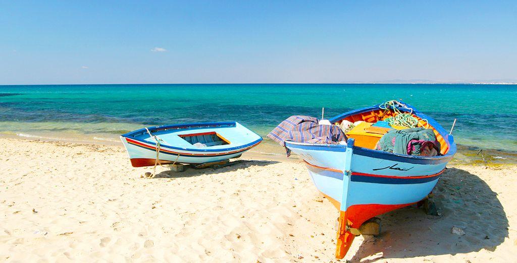 Flânez sur les plages de sable d'Hammamet