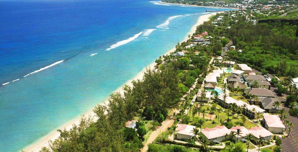 Direction l'ouest de l'île de La Réunion...