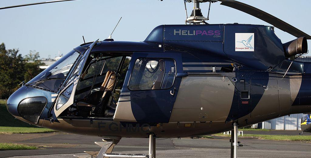 En option avec supplément, offrez-vous un baptême en hélicoptère