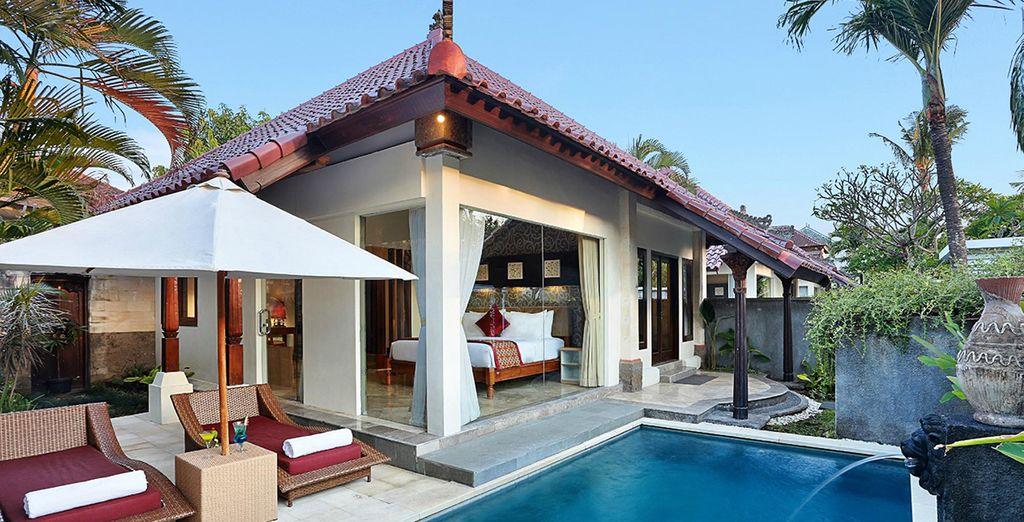 Découvrez votre délicieuse villa avec piscine privée...