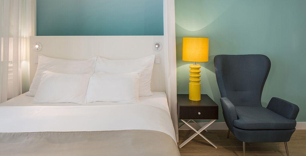 Et serez confortablement installé en chambre Supérieure Vue Mer Latérale