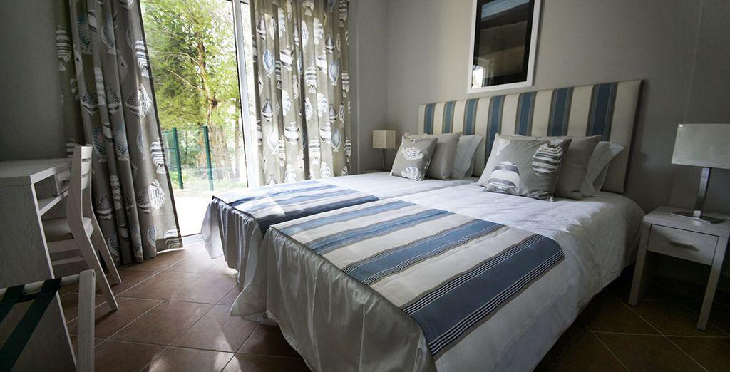 Vous séjournerez dans une villa privée de deux chambres