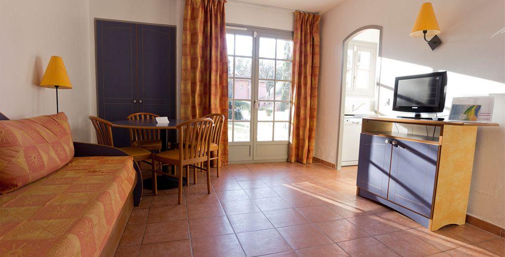 Dans un agréable appartement, cosy et chaleureux...