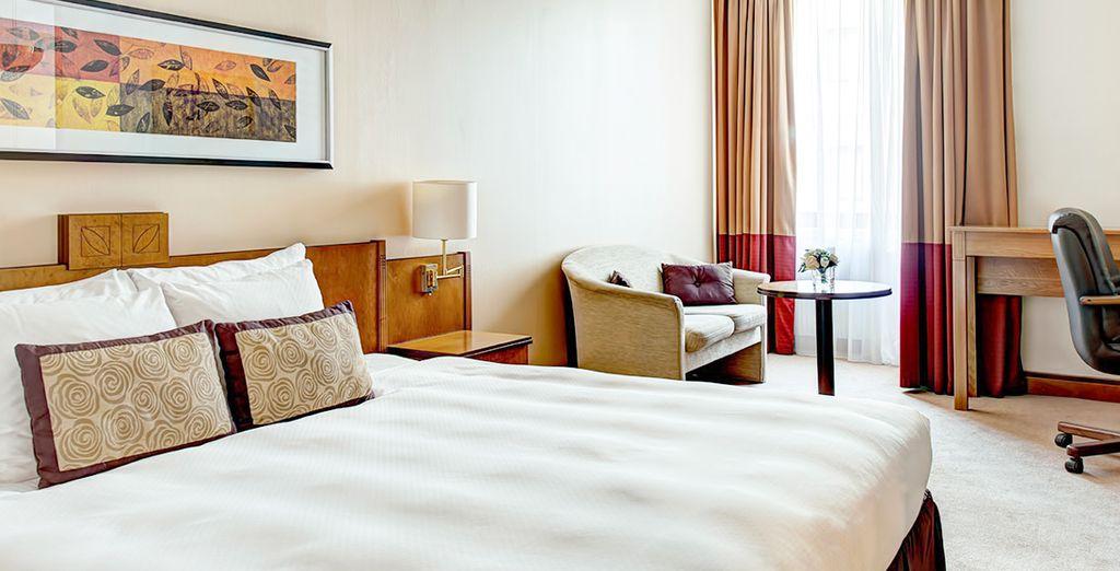 Vous séjournerez dans une chambre Supérieure, cosy et agréable