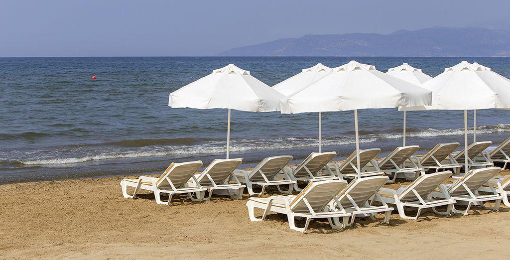 ... mais aussi plage privée
