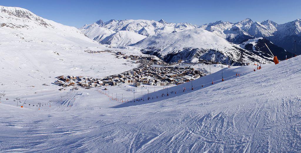 Situé dans le centre-ville de l'Alpe d'Huez