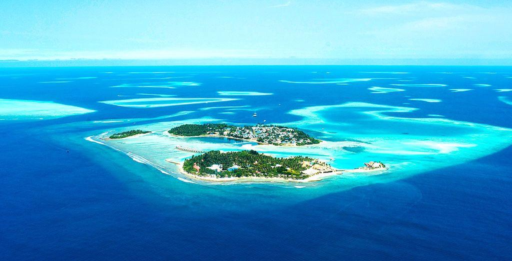 Situé sur une île paradisiaque des Maldives