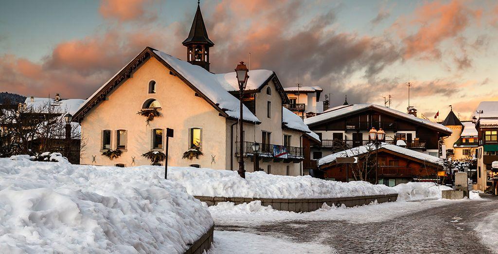 Puis prenez la route pour le sublime village de Megève