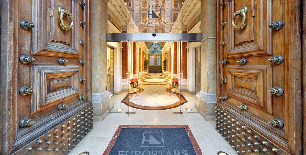 Poussez les portes de l'hôtel Eurostars International Palace Rome