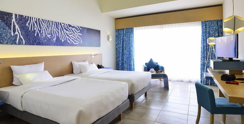 Où nous vous avons réservé une chambre Vue Mer ou optez pour la chambre Front de Mer