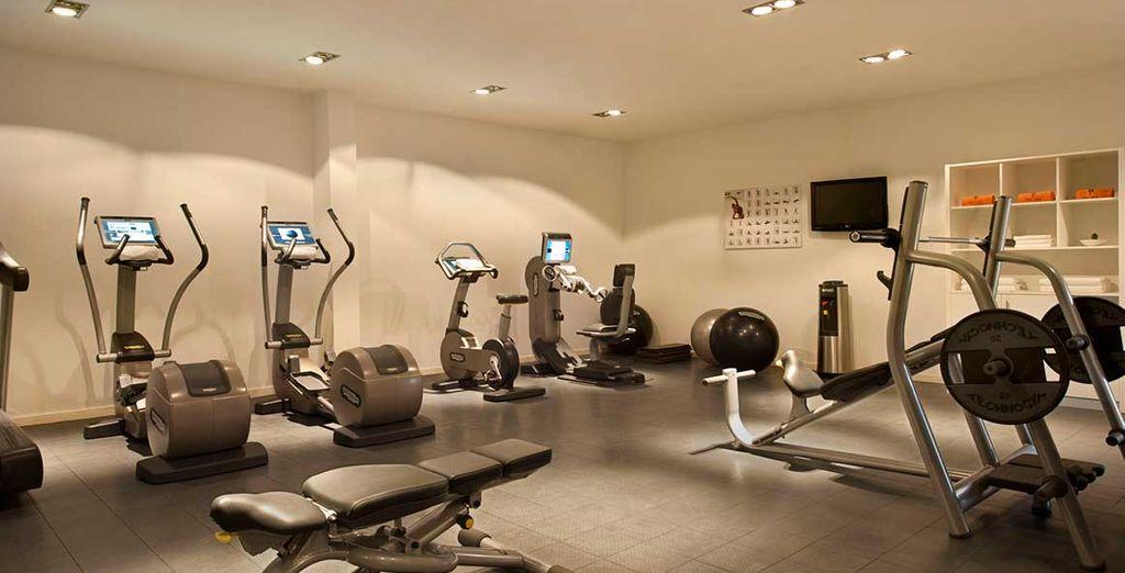 Les plus sportifs pourront s'adonner à une séance d'exercices dans la salle de remise en forme
